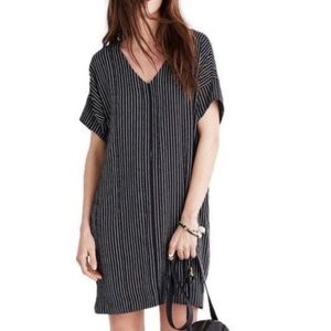 Madewell Novel Chalkboard Striped Dress Size Large